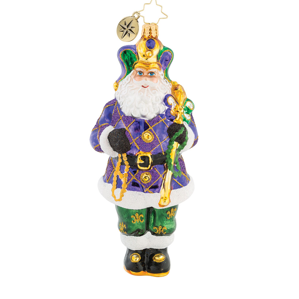 New Orleans Christmas Ornaments.08 Christopher Radko The King Of New Orleans Christmas Ornament August